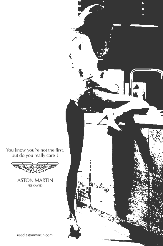 aston martin ad - pre-owned - you know you're not the first, but do you really care