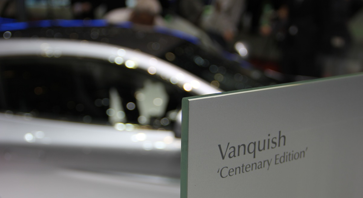 Vanquish Centenary Edition - sign