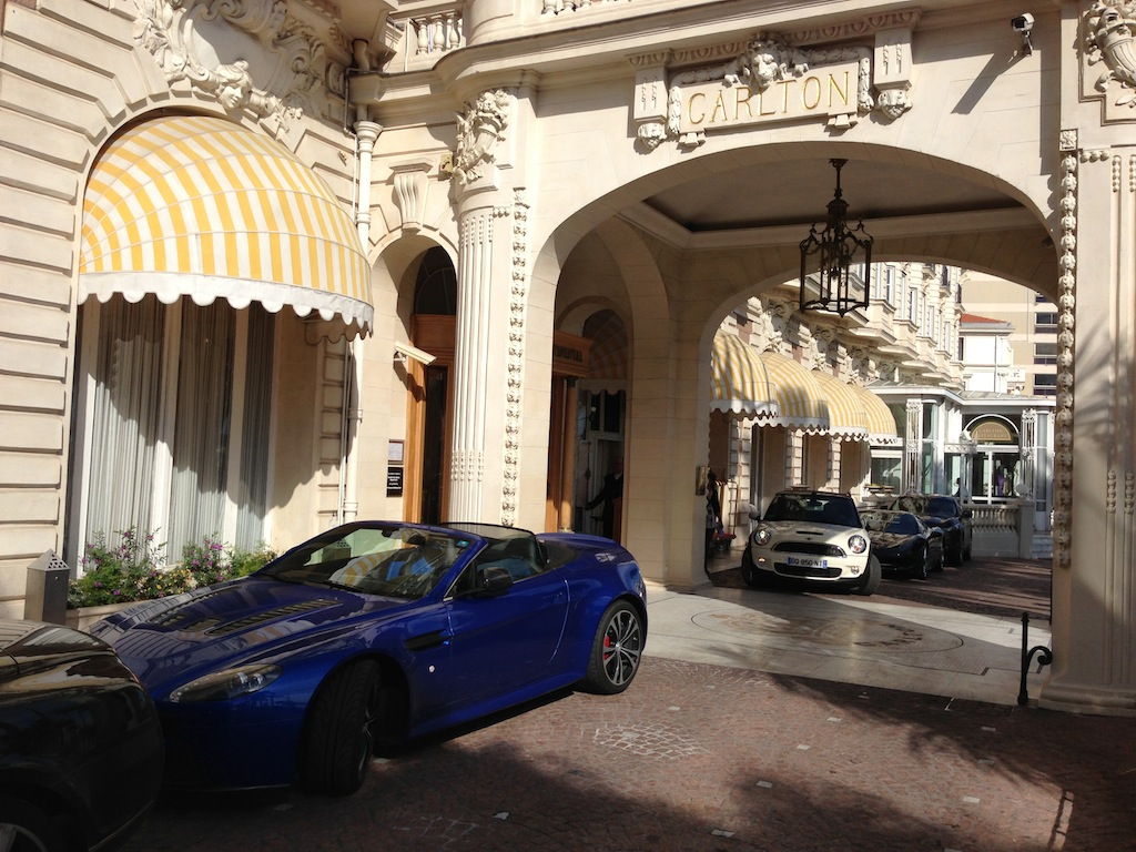 day 4 - parking at the Carlton in Cannes