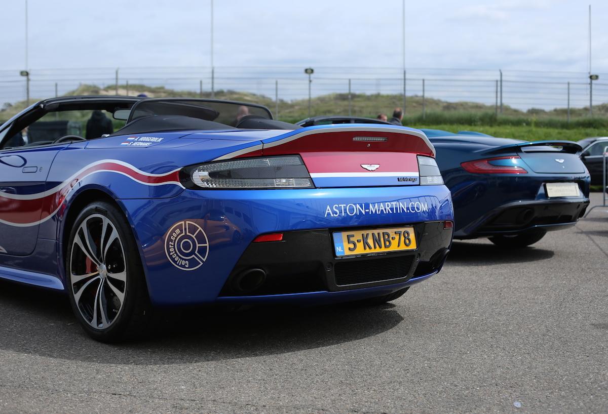 Great British Zandvoort - 2 topless blue Astons