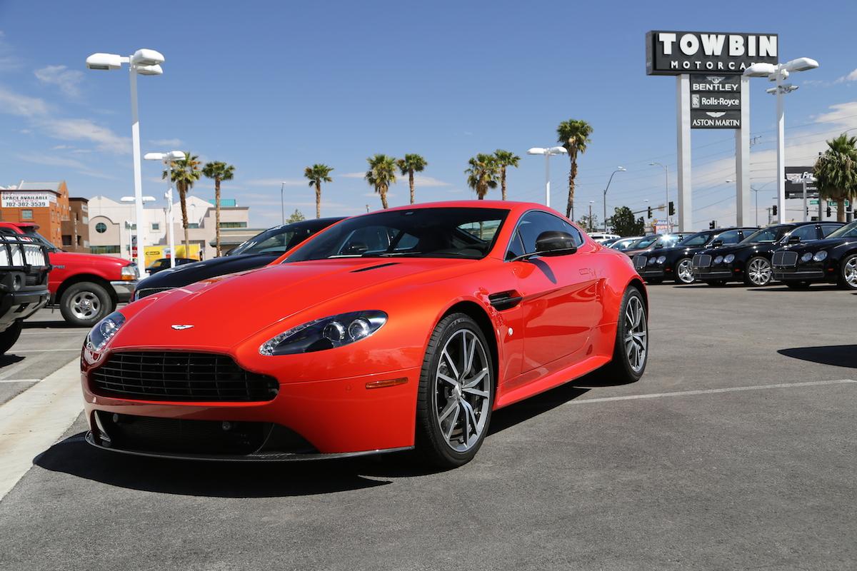 Towbin Vegas - red V8 Vantage S front