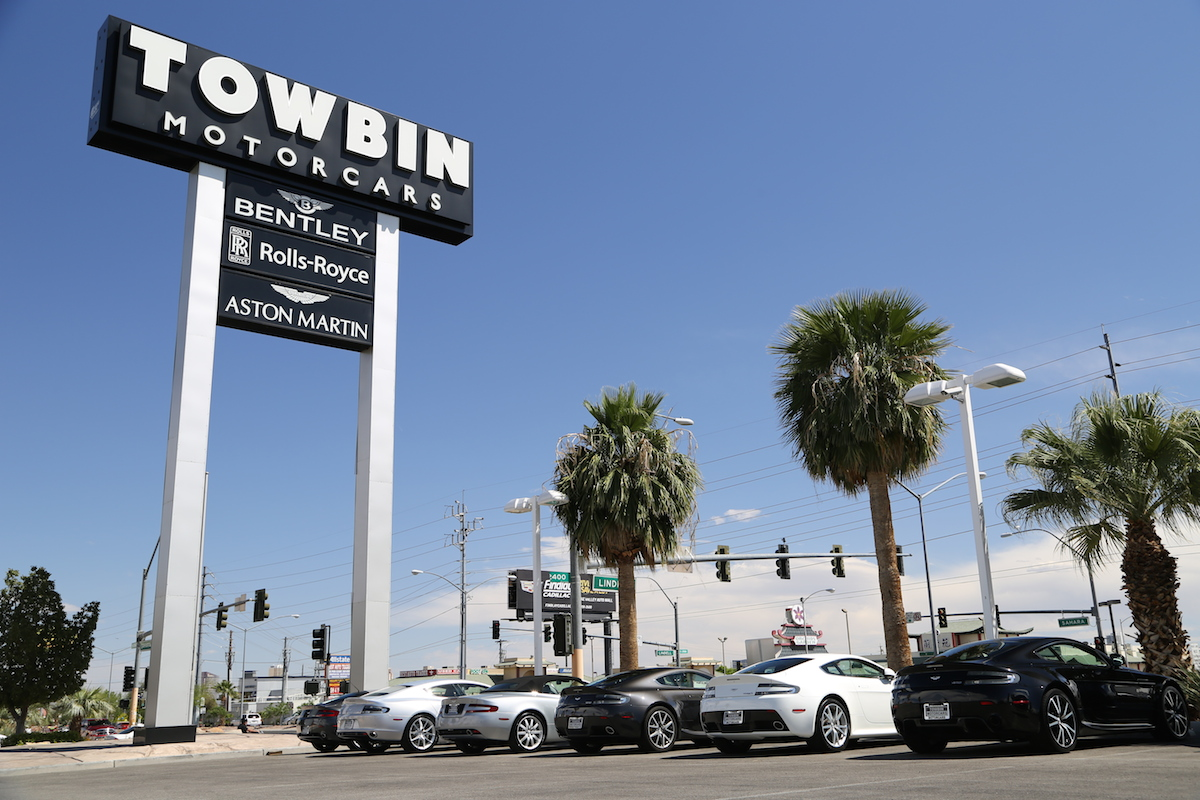 Towbin Vegas - Used Astons with sign